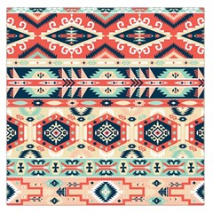 Aztec Pattern Copy Large Satin Scarf (square)