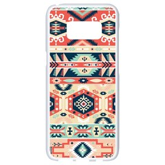 Aztec Pattern Copy Samsung Galaxy S8 White Seamless Case
