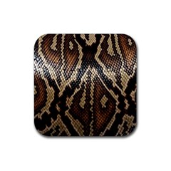 Snake Skin O Lay Rubber Square Coaster (4 Pack)  by BangZart