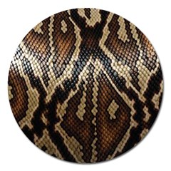 Snake Skin O Lay Magnet 5  (round) by BangZart