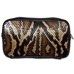 Snake Skin O Lay Toiletries Bags 2 Side