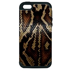 Snake Skin O Lay Apple Iphone 5 Hardshell Case (pc+silicone) by BangZart
