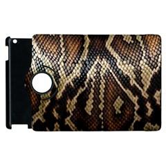 Snake Skin O Lay Apple Ipad 3/4 Flip 360 Case by BangZart
