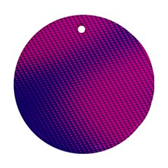 Purple Pink Dots Ornament (round) by BangZart