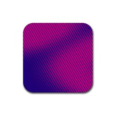 Purple Pink Dots Rubber Square Coaster (4 Pack)