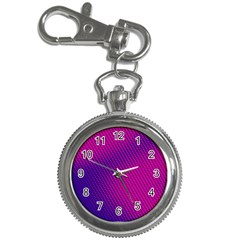 Purple Pink Dots Key Chain Watches by BangZart