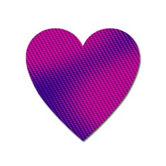 Purple Pink Dots Heart Magnet by BangZart