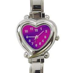 Purple Pink Dots Heart Italian Charm Watch