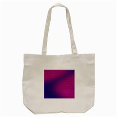 Purple Pink Dots Tote Bag (cream)