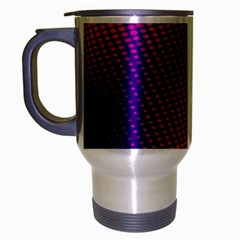 Purple Pink Dots Travel Mug (silver Gray) by BangZart