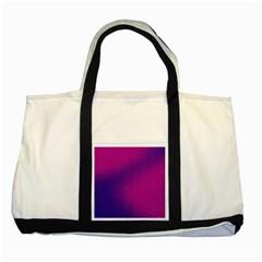 Purple Pink Dots Two Tone Tote Bag by BangZart