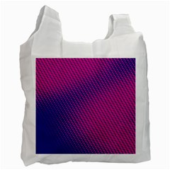 Purple Pink Dots Recycle Bag (one Side)