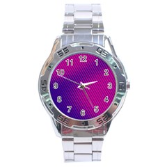Purple Pink Dots Stainless Steel Analogue Watch by BangZart