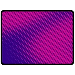 Purple Pink Dots Double Sided Fleece Blanket (large)  by BangZart