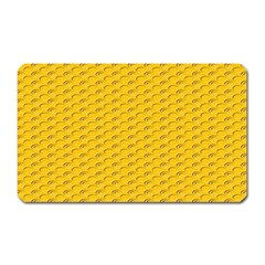 Yellow Dots Pattern Magnet (rectangular)