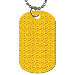 Yellow Dots Pattern Dog Tag (two Sides) by BangZart