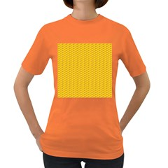 Yellow Dots Pattern Women s Dark T Shirt
