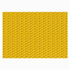 Yellow Dots Pattern Large Glasses Cloth by BangZart