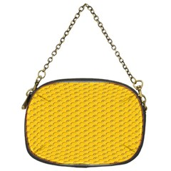 Yellow Dots Pattern Chain Purses (one Side)