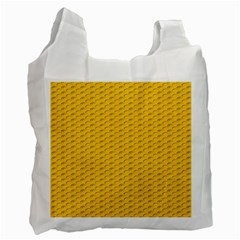 Yellow Dots Pattern Recycle Bag (two Side)