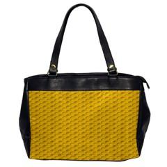 Yellow Dots Pattern Office Handbags