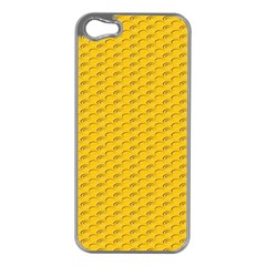Yellow Dots Pattern Apple Iphone 5 Case (silver)