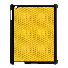 Yellow Dots Pattern Apple Ipad 3/4 Case (black) by BangZart