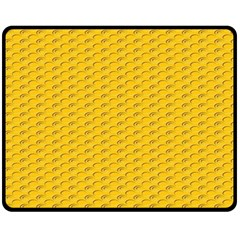 Yellow Dots Pattern Double Sided Fleece Blanket (medium)  by BangZart