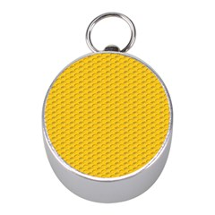 Yellow Dots Pattern Mini Silver Compasses by BangZart