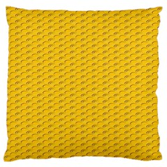 Yellow Dots Pattern Standard Flano Cushion Case (two Sides) by BangZart