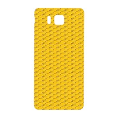Yellow Dots Pattern Samsung Galaxy Alpha Hardshell Back Case by BangZart
