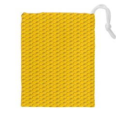 Yellow Dots Pattern Drawstring Pouches (xxl)