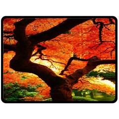 Maple Tree Nice Fleece Blanket (large)  by BangZart