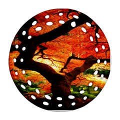 Maple Tree Nice Round Filigree Ornament (two Sides) by BangZart