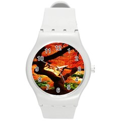 Maple Tree Nice Round Plastic Sport Watch (m) by BangZart