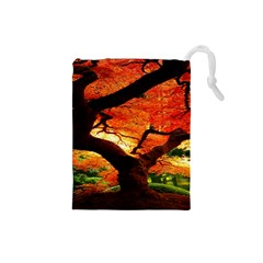 Maple Tree Nice Drawstring Pouches (small)  by BangZart