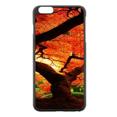 Maple Tree Nice Apple Iphone 6 Plus/6s Plus Black Enamel Case