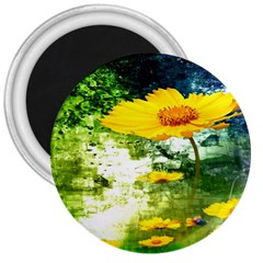 Yellow Flowers 3  Magnets by BangZart