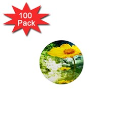 Yellow Flowers 1  Mini Magnets (100 Pack)  by BangZart