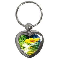 Yellow Flowers Key Chains (heart)  by BangZart