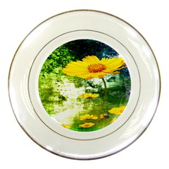 Yellow Flowers Porcelain Plates by BangZart