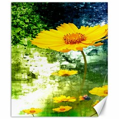 Yellow Flowers Canvas 8  X 10  by BangZart