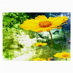 Yellow Flowers Large Glasses Cloth (2 Side)