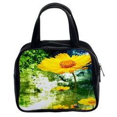 Yellow Flowers Classic Handbags (2 Sides) by BangZart
