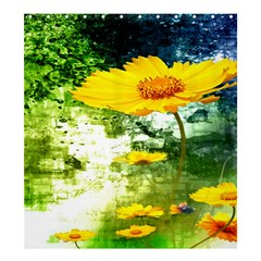 Yellow Flowers Shower Curtain 66  X 72  (large)  by BangZart