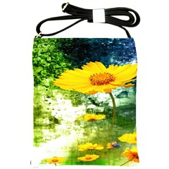 Yellow Flowers Shoulder Sling Bags by BangZart