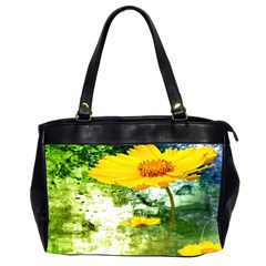 Yellow Flowers Office Handbags (2 Sides)  by BangZart