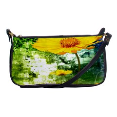 Yellow Flowers Shoulder Clutch Bags