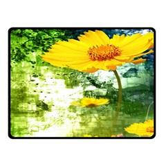 Yellow Flowers Fleece Blanket (small)