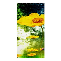 Yellow Flowers Shower Curtain 36  X 72  (stall)